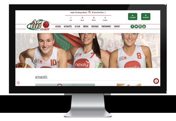 Création web pour l'Anglet Côte Basque Basket