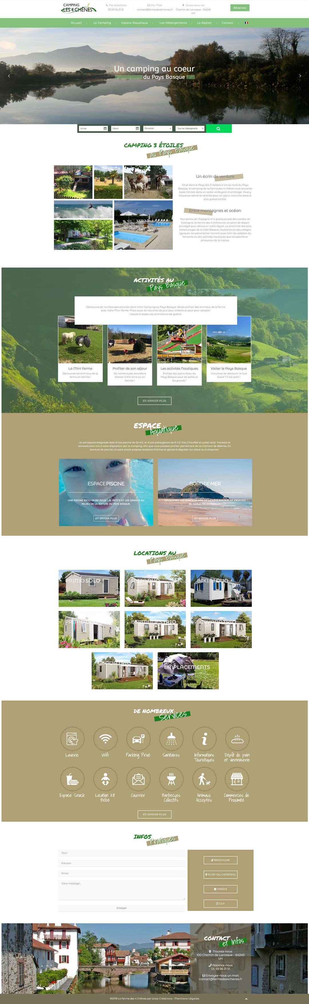Le design du site La ferme des 4 chênes